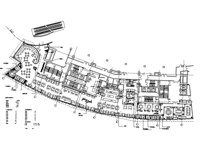 鼎悦坊餐饮空间设计施工图(附效果图+材料表)