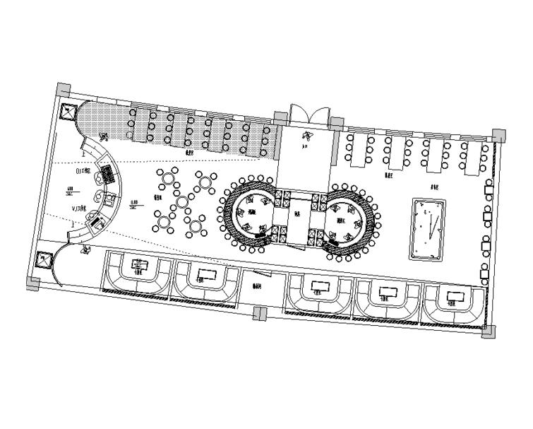 某酒吧混搭风格简约餐馆室内装修设计施工图