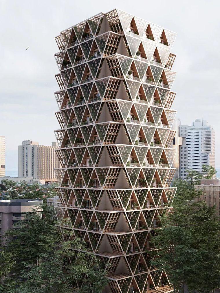 拥有独立生态系统的大楼-城市中的垂直农场