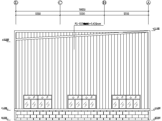 16X86m门式刚架钢结构工程施工图(CAD,12张)