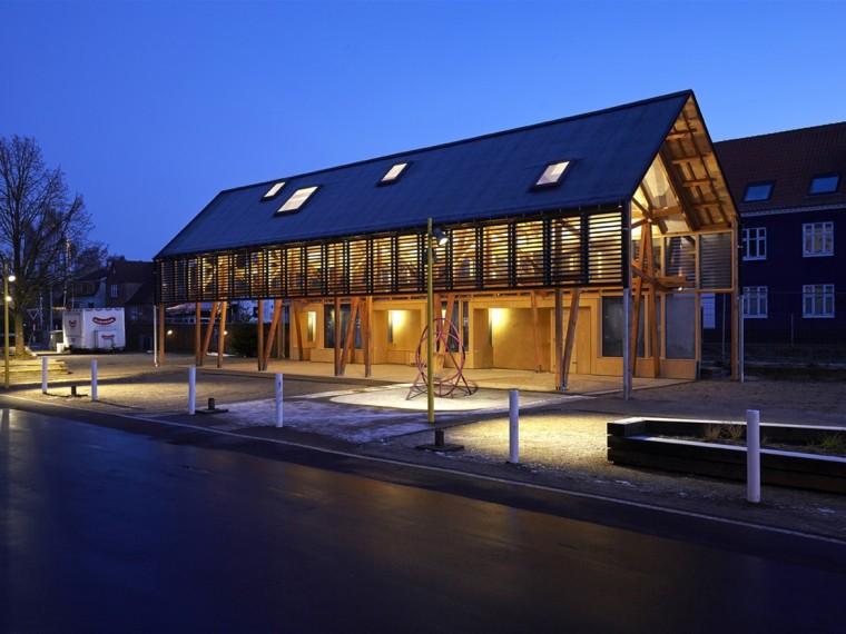 丹麦木结构公共市场