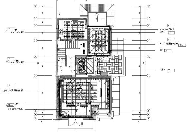 [江苏]美式新古典昆山阳澄溢金苑2套样板房和1售楼处室内施工图设计