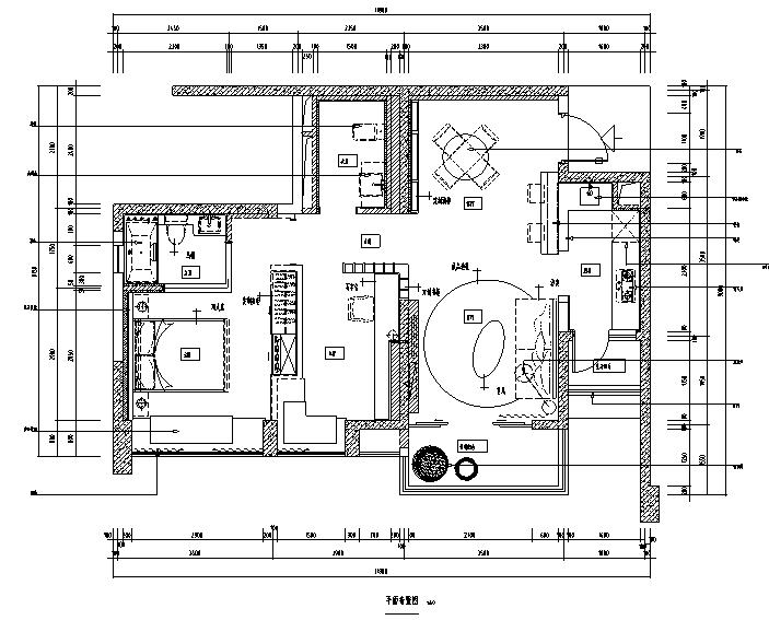 九龙仓晶科名苑中性风样板间设计施工图(附效果图)