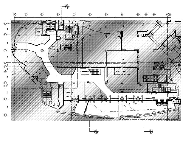 三迪中心商场设计施工图(附效果图+标识设计方案+SU草图模型+深化设计方案+概念设计方案)-总平面索引布置图
