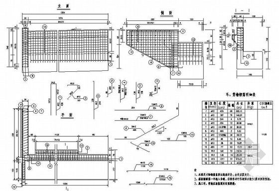 先簡支后連續箱梁耳,背墻及牛腿鋼筋構造節點詳圖設計圖片
