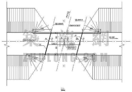 13m空心板桥(斜交75度)设计图