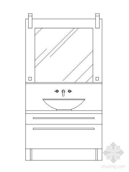洗手台立面图块集