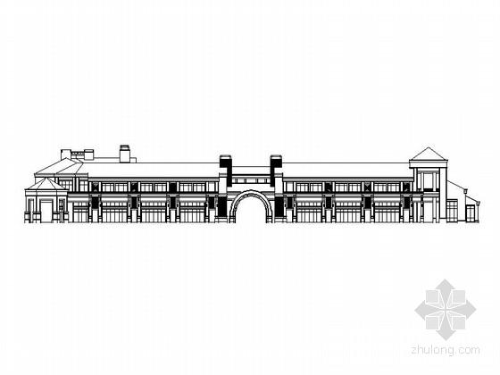 [北京]欧式风格两层会所建筑施工图(国内知名地产)