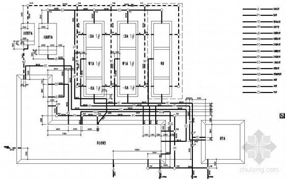 UPVC与HDPE资料下载-某污水处理工程图纸