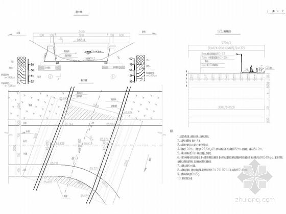 [湖南]30米宽四车道市政道路图纸全套173张附计算书(排水绿化照明交安空心板桥)-空心板桥型布置图