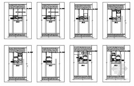 [浙江]地铁车站综合管线综合支架平面布置图及安装图