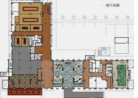 [台湾]精品国际现代风格度假旅馆室内概念方案设计