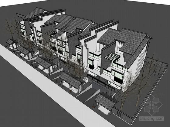 徽派住宅建筑SketchUp模型下载