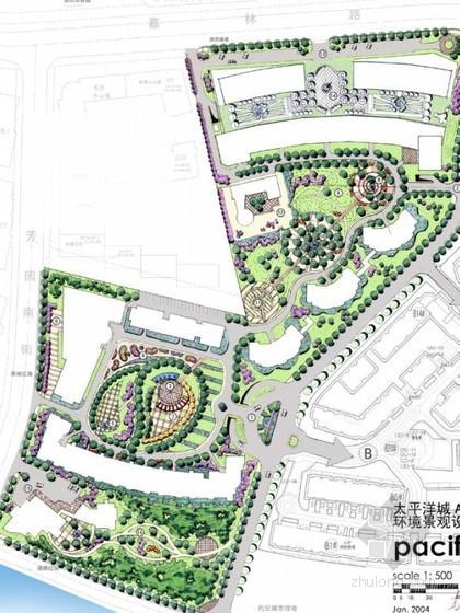 [北京]新古典风格小区景观设计方案