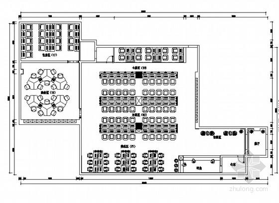 [河南]现代风格网吧室内装饰CAD施工图