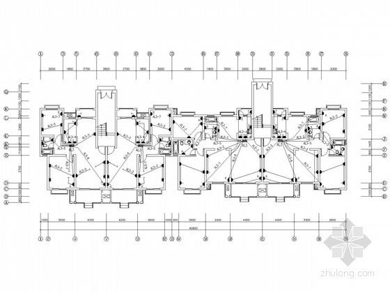 六层小型住宅楼电气施工图纸