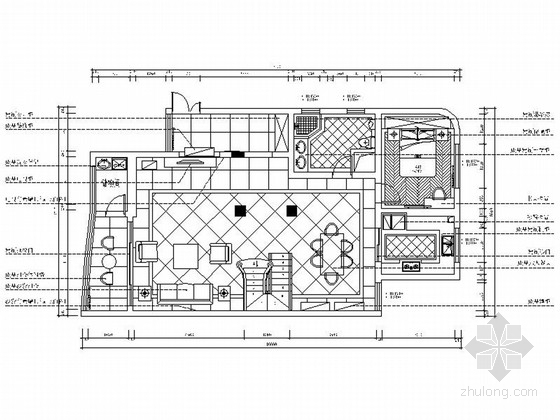 [江苏]简欧风格小两层私人别墅室内装修施工图(含高清效果图)
