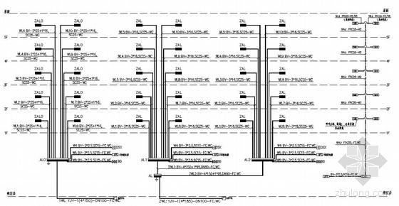某五层住宅楼电气系统图