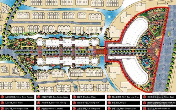 [南昌]居住主题公园主入口和商业街景观扩初设计方案