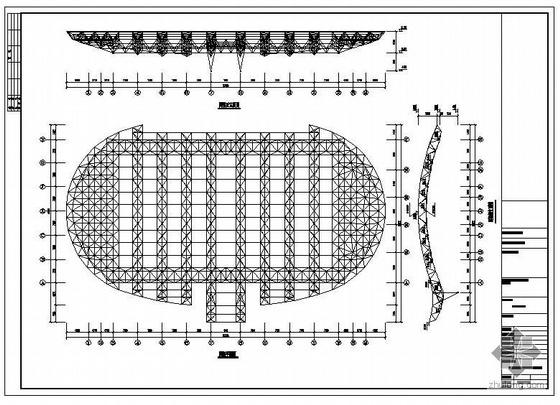 贵州某大学体育馆钢结构初步设计图纸