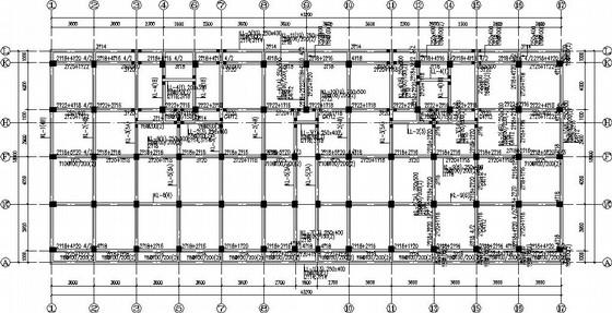 民居改造框架抗震墙结构施工图