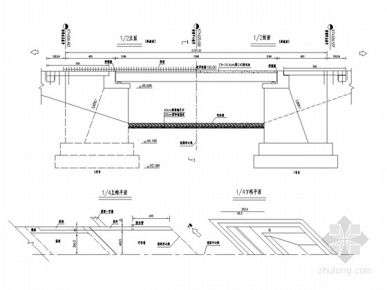 1×13m的预应力钢筋混凝土空心板桥(U型桥台 扩大基础)