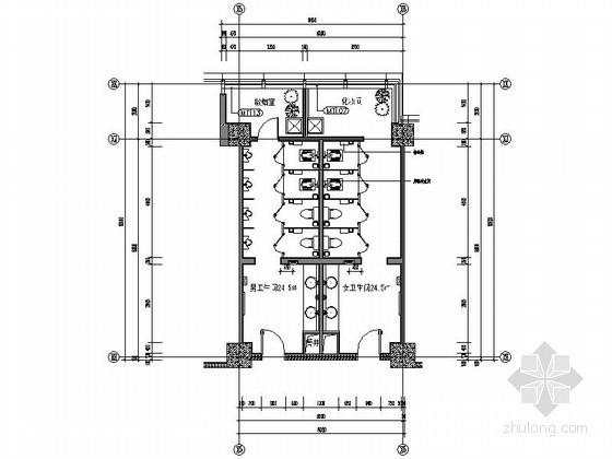 标准层公共卫生间装修图