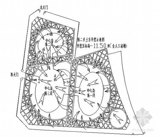 [天津]商业广场深基坑土方开挖施工方案