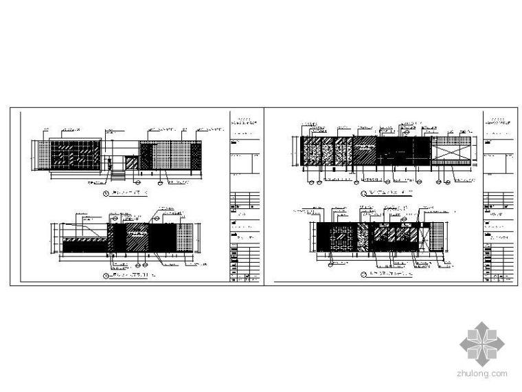 银行贵宾室立面图_3