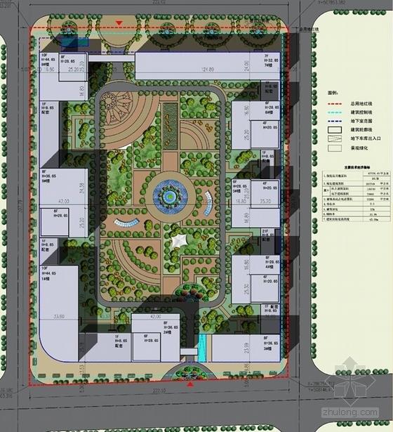 [北京]国内知名企业集团总部规划设计方案文本(含多个方案)-国内知名企业集团总部规划总平面图