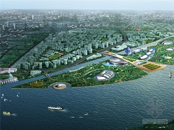 [上海]滨水城市控制性详细规划设计方案文本(含分图图则)