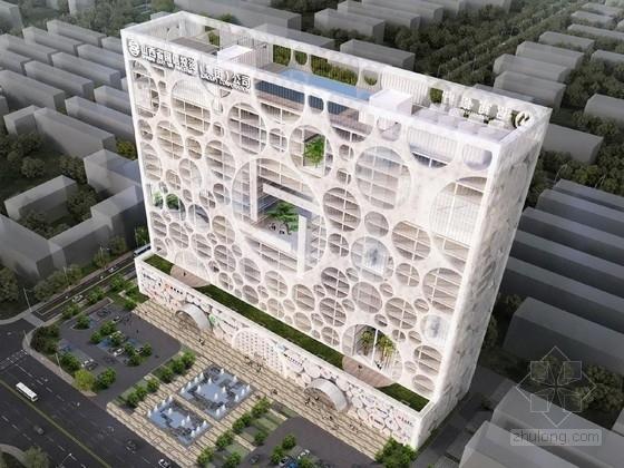 [山西]23层玻璃幕墙办公楼建筑方案文本