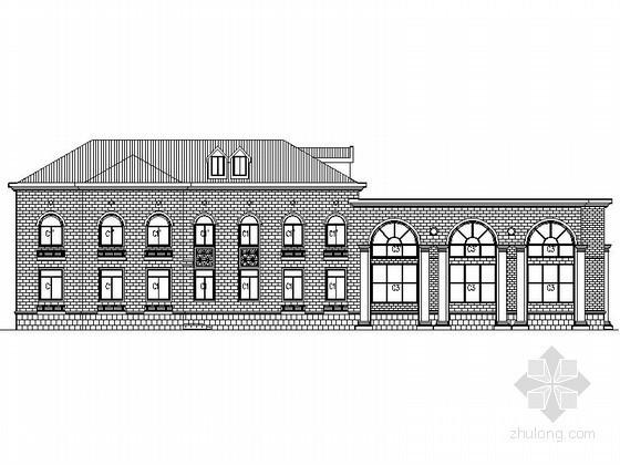 [南昌]某国际花园三层欧式高档商业会所建筑施工图