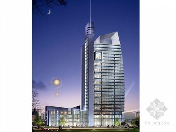 [安徽]点式高层现代风格企业办公楼建筑设计投标方案(知名设计院)