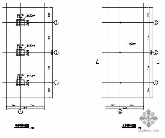 某加油站罩棚建筑结构设计图