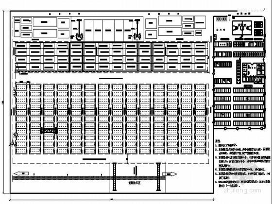 制梁场场地布置图(占地380亩)