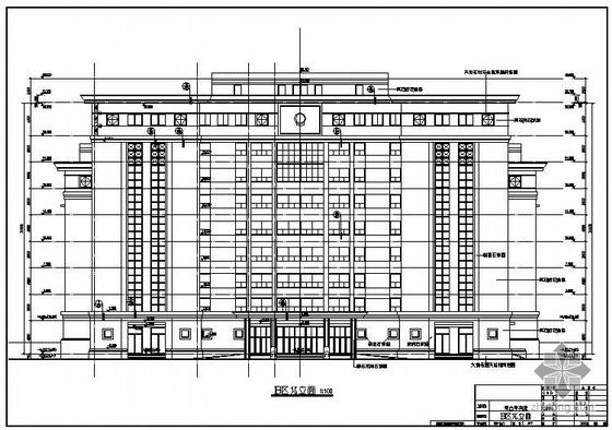 某市中级人民法院综合审判庭建筑结构图