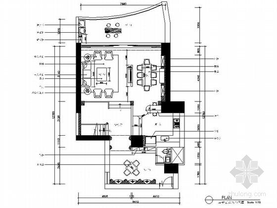 [深圳]知名樓盤歐式3層別墅室內設計CAD施工圖(含效果圖)