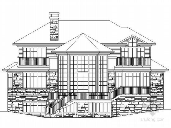 某二层坡地别墅建筑方案图(含效果图)