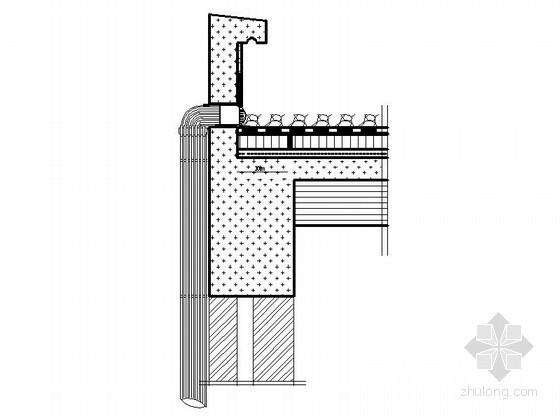 屋面女儿墙防水节点详图