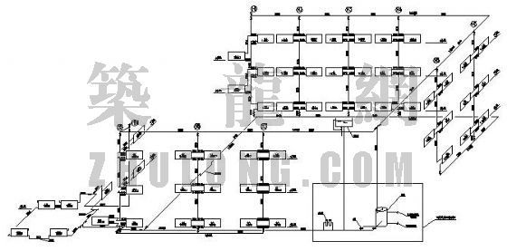大同市某办公楼采暖设计图及计算说明书