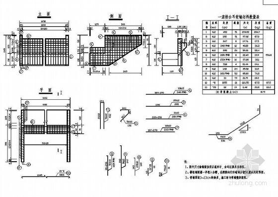 104m组合体系斜拉桥下部桥台耳背墙钢筋构造节点详图设计