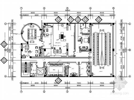 [重庆]石材科技企业公司现代办公楼装修施工图(含效果)