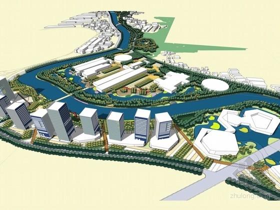 [唐山]城市环城水系河道两岸景观规划设计