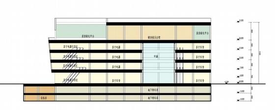 [山东]高层椭圆咬合型精品商业楼建筑设计方案文本-高层椭圆咬合型精品商业楼建筑剖面图