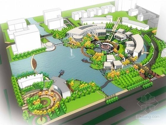 """[浙江]""""校园模式""""产业园景观规划设计方案"""