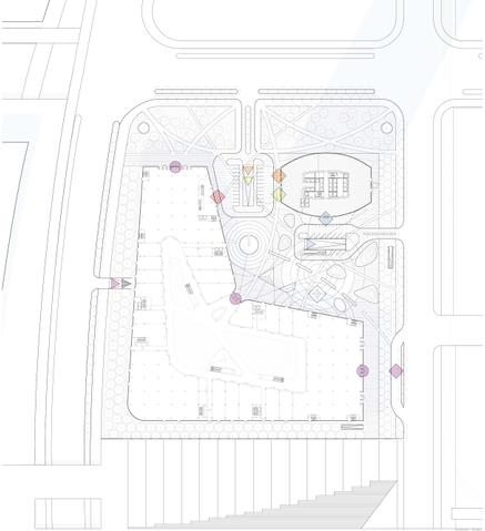 滨湖知名地产中心商务区超高层建筑设计方案场地平面图