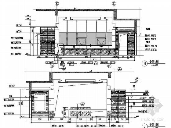 [北京]古典欧式主义两层别墅设计装修图(含实景)餐厅立面图