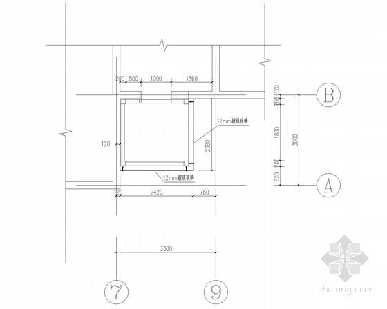 宾馆室外电梯钢结构二次设计图纸