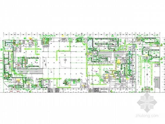 [江苏]高层商业综合体空调通风及防排烟系统设计施工图(制冷机房设计)